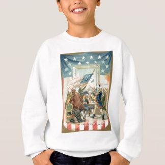 US Flag Congress First 4th of July Sweatshirt