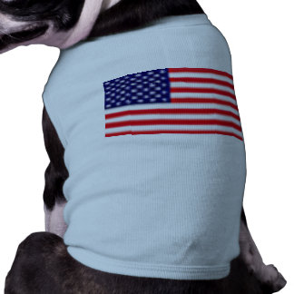US FLAG Doggie Ribbed Tank Top Sleeveless Dog Shirt