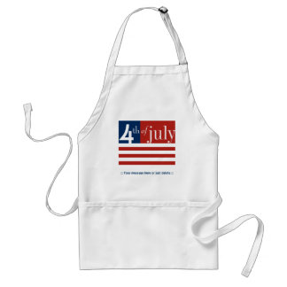 US Flag Fourth of July Apron