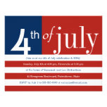 US Flag Fourth of July Party Invitation