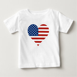 US Flag Heart Baby T-Shirt