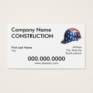 US Flag Helmet  Business Card