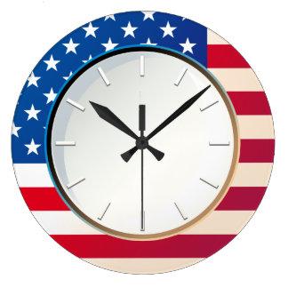 US Flag Large Clock