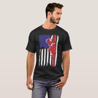 Us Flag Lineman T-Shirt