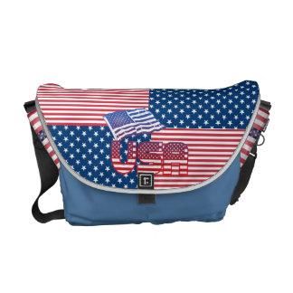 US  flag messenger bags
