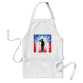 US flag military armed forces soldier silhouette Aprons