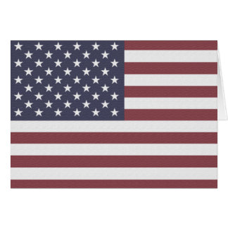 US Flag Note Card