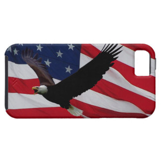 US Flag on Windy Day Tough iPhone 5 Case