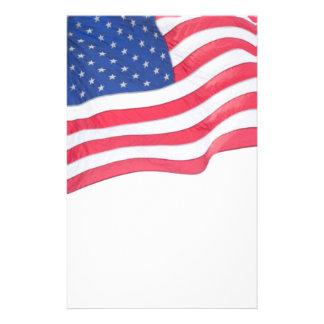 US Flag Patriotic Bright Stationery