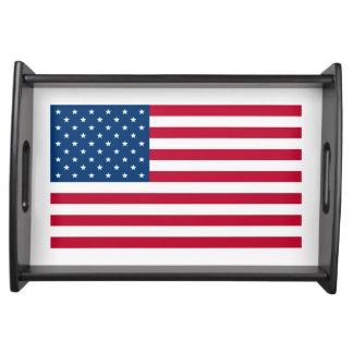US Flag Patriotic design Serving Tray