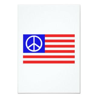 US flag peace Custom Invitation