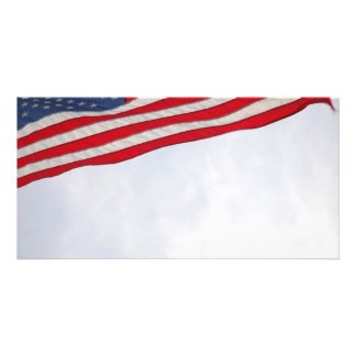 US Flag Personalized Photo Card