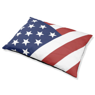 US Flag Pet Bed