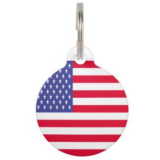 US Flag Pet ID Tag
