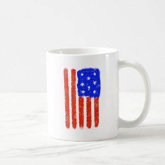 US Flag Raw Grit Coffee Mug