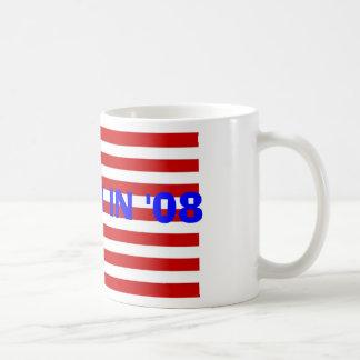 us_flag, REAGAN IN '08 Coffee Mug