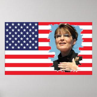 US Flag Sarah Palin Poster
