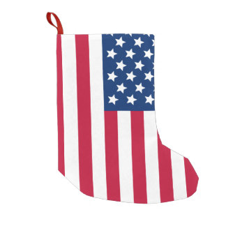 US Flag Small Christmas Stocking