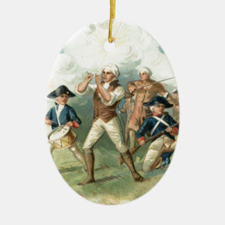 US Flag Spirit of 76 Soldier Drummer Boy Ceramic Ornament
