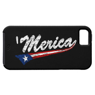 US Flag Style Swoosh 'Merica (worn) iPhone 5 case