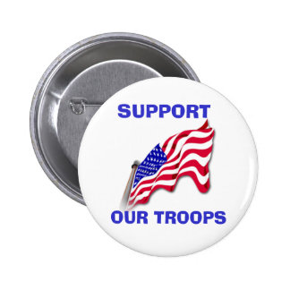 US Flag SUPPORT OUR TROOPS Button
