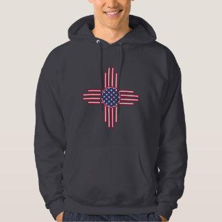 US Flag - The Zia Sun Symbol - American Sun. Hoodie
