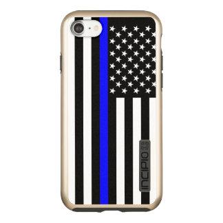 US Flag Thin Blue Line Symbolic on Incipio DualPro Shine iPhone 8/7 Case