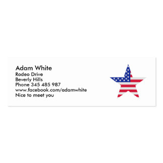 US flag United States Pack Of Skinny Business Cards