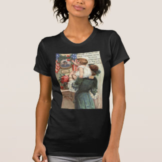 US Flag Victorian Mother Child Rose Wreath T-shirt