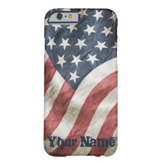 US Flag Vintage Retro Old Glory with Your Name Barely There iPhone 6 Case