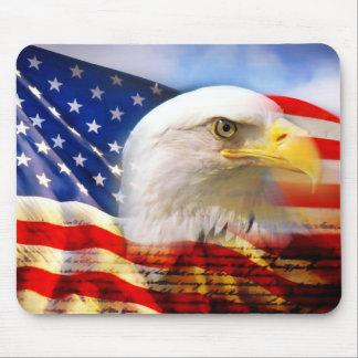 US FLAG WITH AMERICAN EAGLE MOUSEPAD