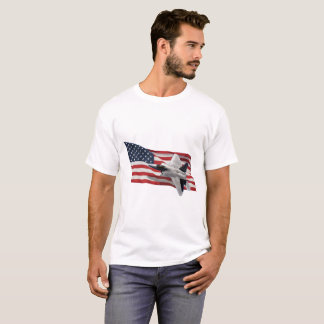 US Flag With Raptor T-Shirt