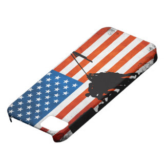 US Flag with Veterans Silhouettes Case For The iPhone 5