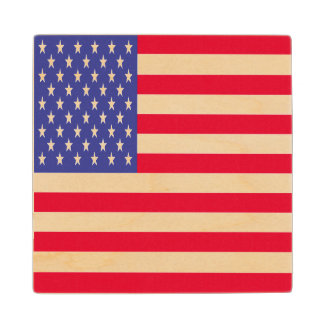 US Flag Wood Coaster
