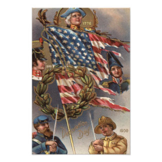 US Flag Wreath Military Memorial Day Photographic Print