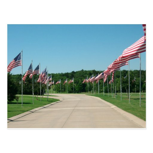 US Flags at DFW National Cemetery - Post Card