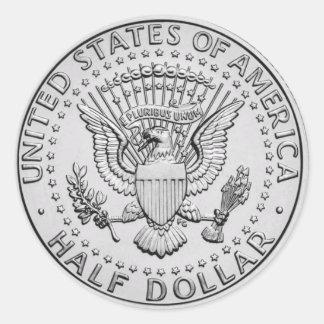 US Great Seal Half Dollar Round Sticker