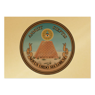 US Great Seal Obverse (Reverse) Side Pack Of Chubby Business Cards
