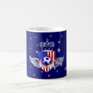 US Grunge soccer shield coffee mug