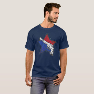 US Guns Stars and Stripes T-Shirt
