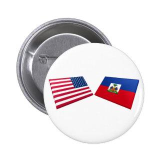 US Haiti Flags Pins