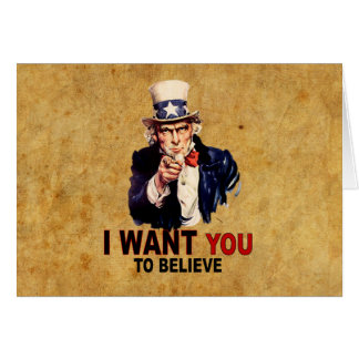 US - I Want You To Believe Card