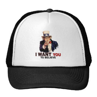 US - I Want You To Believe Mesh Hat