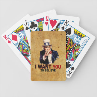 US - I Want You To Believe Poker Deck