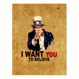 US - I Want You To Believe Postcard