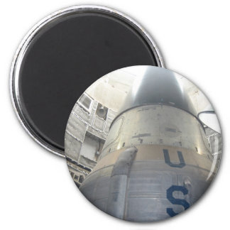 US ICBM Nuclear Missle 6 Cm Round Magnet
