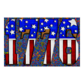 US Independence Day 1776 Poster