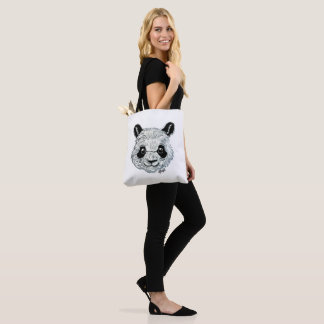 US Made Hand Painted Panda 2-Sided 2-Colored Tote