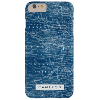US Map Blueprint Barely There iPhone 6 Plus Case