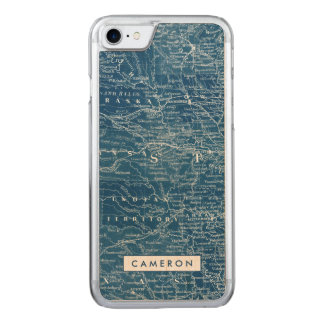 US Map Blueprint Carved iPhone 8/7 Case